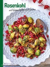 Rezept - Rosenkohl mit Granatapfel und Sesam - Simply Kochen Weihnachts-Menü – 05/2019