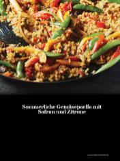 Rezept - Sommerliche Gemüsepaella mit Safran und Zitrone - Healthy Vegan Sonderheft - Vegan Jahrbuch