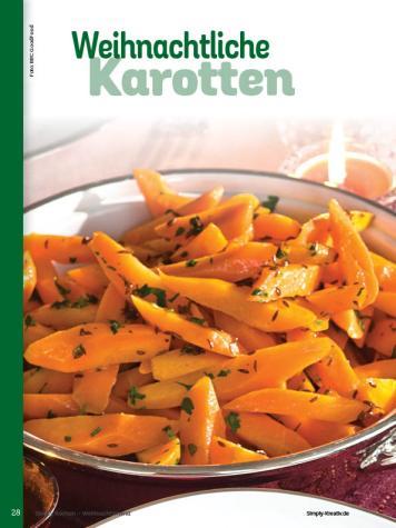 Rezept - Weihnachtliche Karotten - Simply Kochen Weihnachts-Menü – 05/2019