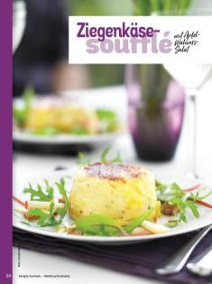 Rezept - Ziegenkäsesouffle mit Apfel-Walnuss-Salat - Simply Kochen Weihnachts-Menü – 05/2019