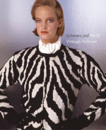 Strickanleitung - Schwarz auf Weiß - Vintage-Pullover - Designer Knitting 06/2019