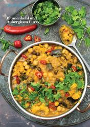 Rezept - Blumenkohl und Auberginen-Curry - Vegan Food & Living – 01/2020