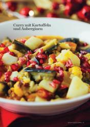 Rezept - Curry mit Kartoffeln und Auberginen - Vegan Food & Living – 01/2020