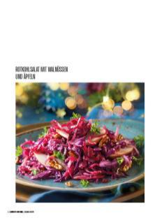 Rezept - Rotkohlsalat mit Walnüssen und Äpfeln - Bewusst Low Carb – 01/2020