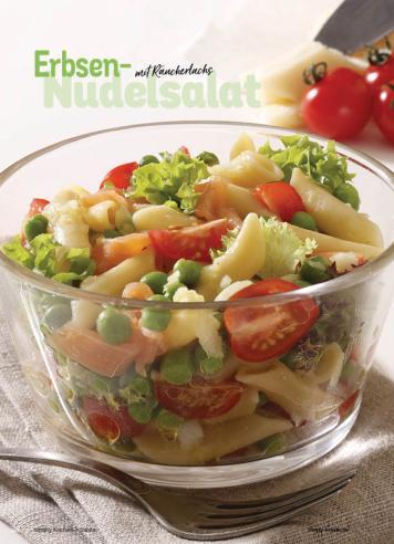 Rezept - Erbsen-Nudelsalat mit Räucherlachs - Simply Kochen Sonderheft Best of Salate