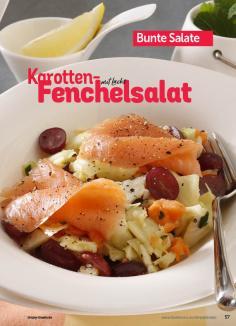 Rezept - Karottel-Fenchelsalat mit Lachs - Simply Kochen Sonderheft Best of Salate