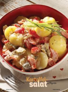 Rezept - Kartoffel-Salat mit Paprika - Simply Kochen Diät-Rezepte für die ganze Familie