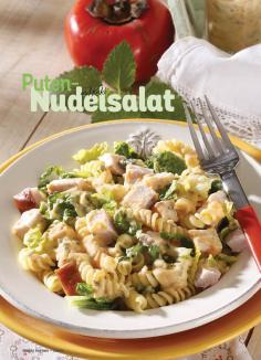 Rezept - Puten-Nudelsalat mit Kaki - Simply Kochen Sonderheft Best of Salate