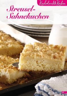 Rezept - Streusel-Sahnekuchen - Simply Backen Sonderheft Kuchen – 01/2020