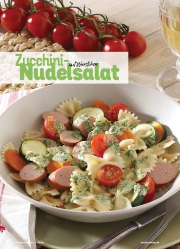 Rezept - Zucchini-Nudelsalat mit Würstchen - Simply Kochen Sonderheft Best of Salate