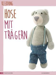 Häkelanleitung - Hose mit Trägern - Fantastische Häkelideen Bärchenparty Amigurumi Vol. 24