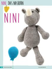 Häkelanleitung - Nini, das Nashorn - Fantastische Häkelideen Bärchenparty Amigurumi Vol. 24