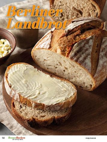 Rezept - Berliner Landbrot - Brote Backen mit Tommy Weinz 02/2020