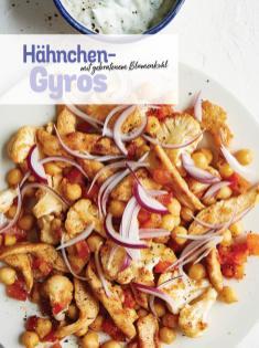 Rezept - Hähnchen-Gyros mit gebratenem Blumenkohl - Simply Kochen Sonderheft Low Carb