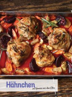Rezept - Hähnchen mit Gemüse aus dem Ofen - Simply Kochen Sonderheft Low Carb