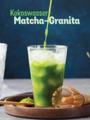 Rezept - Kokoswasser-Matcha-Granita - Simply Kochen Sonderheft Low Carb