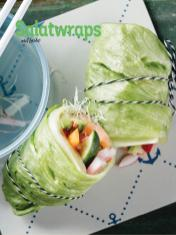 Rezept - Salatwraps mit Lachs - Simply Kochen Sonderheft Low Carb