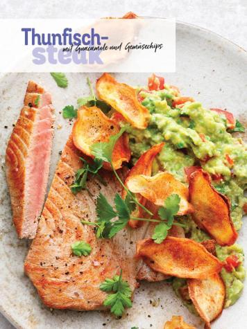 Rezept - Thunfischsteak mit Guacamole und Gemüsechips - Simply Kochen Sonderheft Low Carb