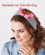 Häkelanleitung - Haarband mit Schmetterling - Mini Häkeln Vol. 13 Accessoires