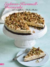 Rezept - Erdnuss-Karamell-Cheesecake mit Cornflakes-Schoko-Boden - Simply Backen Kuchen & Kleingebäck – 01/2020