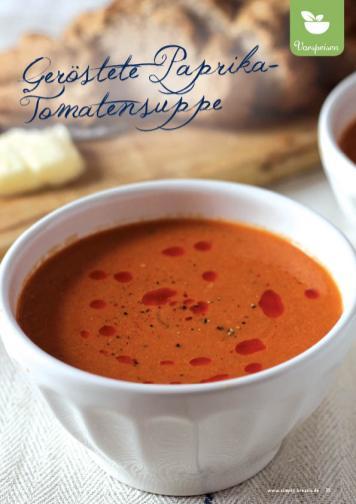 Rezept - Geröstete Paprika-Tomatensuppe - Simply Kreativ Extra – Leckere Ideen für den Thermomix® 01/2020
