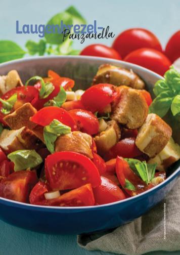 Rezept - Laugenbrezel-Panzanella - Simply Kochen Heißluft-Fritteuse