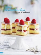 Rezept - Mini Biskuitkuchen mit Himbeeren - Simply Backen Kuchen & Kleingebäck – 01/2020
