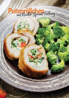 Rezept - Putenröllchen mit Ricotta-Spinat-Füllung - Simply Kochen Heißluft-Fritteuse