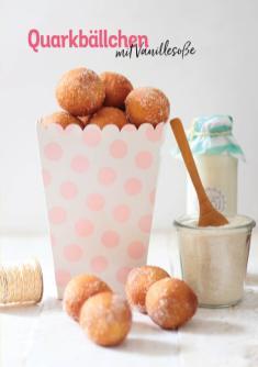 Rezept - Quarkbällchen mit Vanillesoße - Simply Kochen Heißluft-Fritteuse