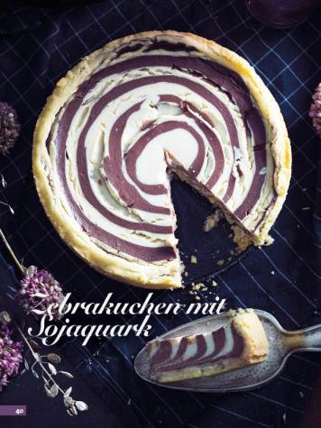 Rezept - Zebrakuchen mit Sojaquark - Simply Backen Kuchen & Kleingebäck – 01/2020