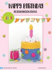 Häkelanleitung - Happy Birthday Geschenkschachtel - Simply Häkeln Sonderheft Deckelüberzüge Teil 2