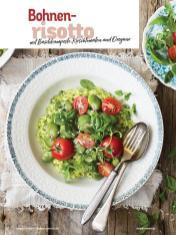 Rezept - Bohnenrisotto mit Basilikumpesto, Kirschtomaten und Oregano - Simply Kochen Italienische Küche