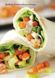 Rezept - Buffalo-Kichererbsen-Wraps - Vegan Food & Living – 03/2020