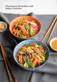 Rezept - Chantenay-Karotten mit Satay-Gemüse - Vegan Food & Living – 03/2020