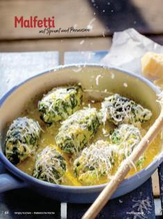 Rezept - Malfetti mit Spinat und Parmesan - Simply Kochen Italienische Küche