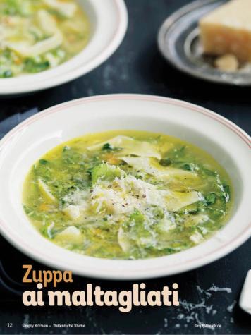 Rezept - Zuppa ai maltagliati - Simply Kochen Italienische Küche