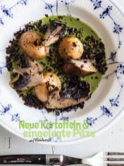 Rezept - Neue Kartoffeln und eingelegte Pilze mit Rucolasoße - Simply Kochen mit Vorräten 02/2020