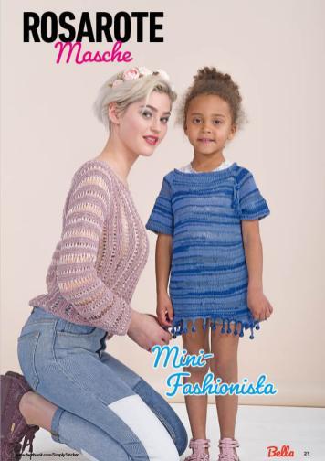 Strickanleitung - Rosarote Masche und Mini-Fashionista - Bella – Einfach Stricken 03/2020