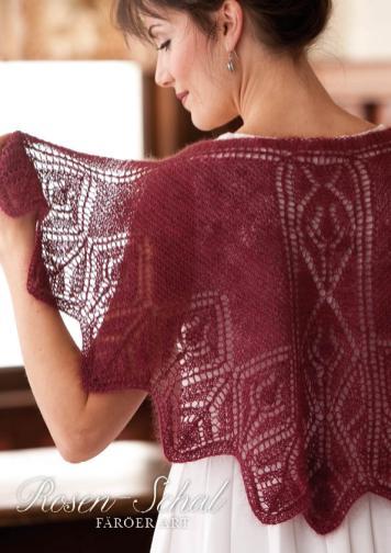 Strickanleitung - Rosen-Schal Färöer Art - Simply Kreativ Sonderheft - Lace aus aller Welt