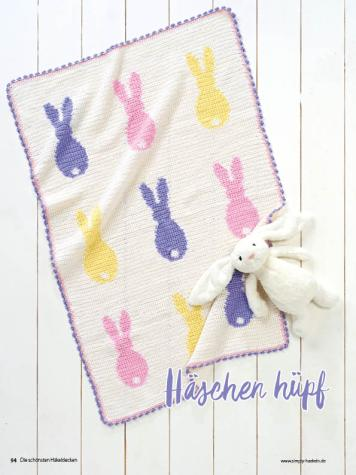 Häkelanleitung - Häschen hüpf - Best of Simply Häkeln – Die schönsten Decken 02/2020