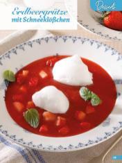 Rezept - Erdbeergrütze mit Schneeklößchen - Simply Backen Sonderheft Erdbeeren – 01/2020