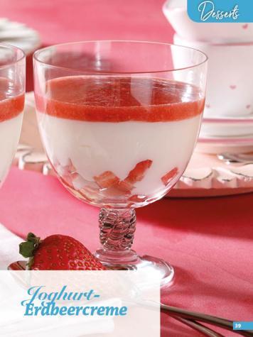 Rezept - Joghurt-Erdbeercreme - Simply Backen Sonderheft Erdbeeren – 01/2020