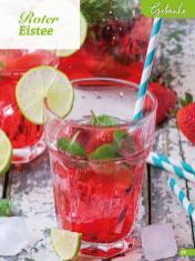 Rezept - Roter Eistee - Simply Backen Sonderheft Erdbeeren – 01/2020