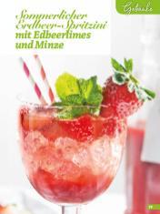 Rezept - Sommerlicher Erdbeer-Spritzini mit Edbeerlimes und Minze - Simply Backen Sonderheft Erdbeeren – 01/2020