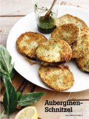Rezept - Auberginen-Schnitzel - Vegan Food & Living – 04/2020