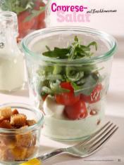 - Simply Kochen Sonderheft Sommerrezepte 01/2020Rezept - Caprese-Salat mit Basilikumcreme