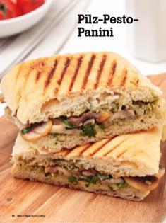 Rezept - Pilz-Pesto Panini - Vegan Food & Living – 04/2020