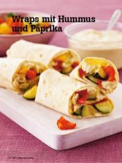 Rezept - Wraps mit Hummus und Paprika - Vegan Food & Living – 04/2020