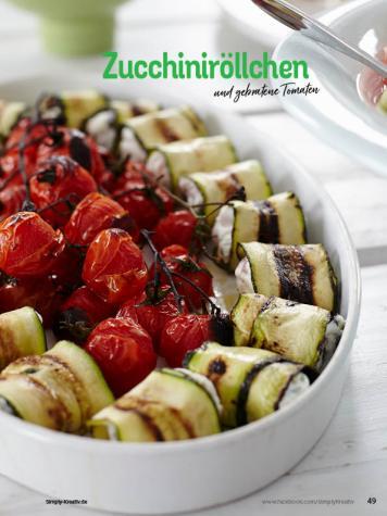 Rezept - Zucchiniröllchen und gebratene Tomaten - Simply Kochen Sonderheft Sommerrezepte 01/2020