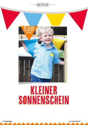 Nähanleitung - Kleiner Sonnenschein - Simply Nähen 05/2020